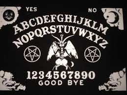 satanic ouija board baphomet pentagram black canvas patch details satanic