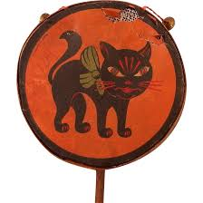 halloween cat png arched back black cat halloween drum shaker noisemaker with bell u0027s