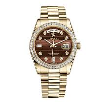 diamond rolex rolex day date 36 118348 gold watch bull u0027s eye set with diamonds