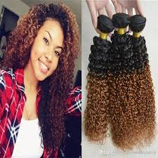 weave jerry curls hairstyle two tone ombre hair weaving 3 pcs lot 1b 30 100g remi humen hair