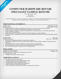 computer resume ideas of sample resume for computer technician in cover letter