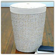 wicker laundry hampers hamper furniture wood custom made solid oak mission style clothes