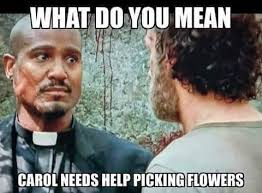 Look At The Flowers Meme - the walking dead meme of the day tanya giaimo
