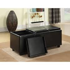 simpli home avalon extra large storage ottoman with 3 serving
