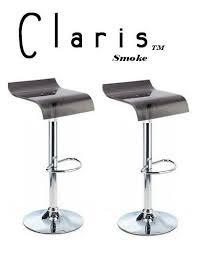 claris contemporary single adjustable bar stool