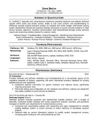 Resume Examples Server by Information Technology Resume 22 Technical Resume Examples Field