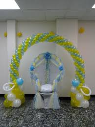 baby shower chair covers decorating ideas for baby showerhair with blue balloons wicker