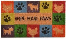 Welcome Mat Wipe Your Paws Home Trax Designs C12s1830wp Wipe Your Paws Vinyl Backed Door Mat