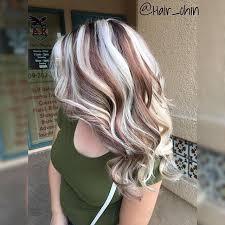 platinum blonde and dark brown highlights trendy hair highlights lots of blonde highlights in brown hair