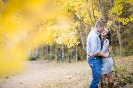 Colorado Photographers Colorado Fall Mountain Engagement Pictures In The Yellow Aspens