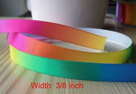 3 8 inch ribbon 50 yards 3 8 inch rainbow ribbon satin rainbow ribbon hair bow