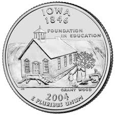First State Quarters Of The United States Collectors Map by Iowa State Quarter U S Mint