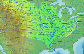 Great Basin Usa Map by The Mississippi River