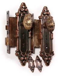 Exterior Door Hardware Sets Two Matching Antique Bronze Entry Door Hardware Sets Meridian