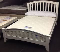 white solid wooden bed frame sleepland knightsbridge 5ft kingsize