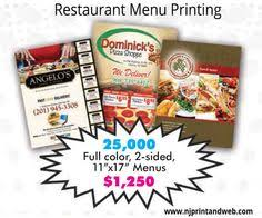 restaurant menu printing is easy at njprintandweb com in new york