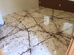 marble floor in metallic epoxy radian creative