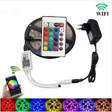 led strip lights wifi controller kwb wifi controller 5050 rgb led strip light 60led m neon l decor