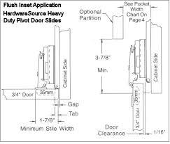 Flush Inset Kitchen Cabinets Heavy Duty Pivot Door Slides Hardwaresource Com