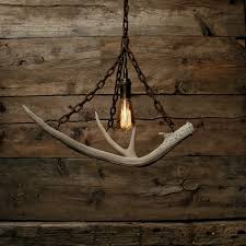 Hanging Industrial Lights by The Durango Chandelier Antler Pendant Light Rustic Chain
