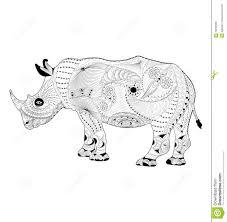 zentangle vector rhinoceros stock vector image 70249585