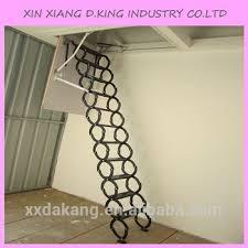 steel automatic electric telescopic loft ladders hydraulic folding