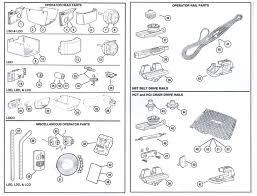 Overhead Door Corporation Parts Linear Garage Door Opener Replacement Parts
