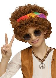 Halloween 70s Costumes Child U0027s Hippie Afro Wig 70 U0027s Costumes Costumes