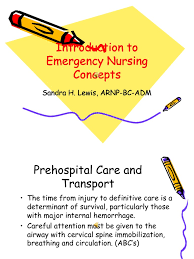 introduction to emergency nursing concepts final major trauma