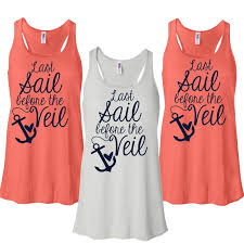 bridesmaids tank tops 15 last sail before the veil with anchor flowy tank tops