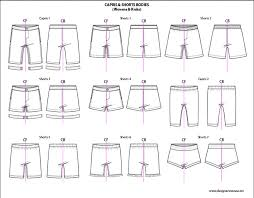 kids illustrator flat fashion sketch templates shorts 850 mix
