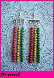 reggae earrings rasta stud earrings rasta earrings rastafarian jewelry rasta