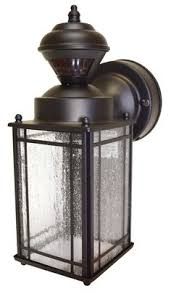 mission style outdoor wall light heath zenith 16 5 in h motion activated outdoor wall light