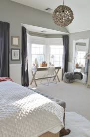 Bedroom Bay Window Furniture City Farmhouse Rustic Chic Master Bedroom With Grays Warm Coral