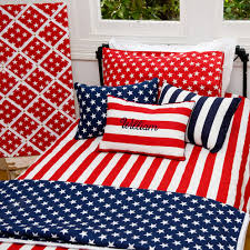 American Flag Bed Set Stars And Stripes Bassinet And Cot Comforter Set In Navy