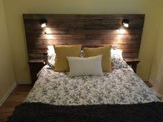 diy headboard with built in lights floating nightstands and