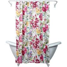 India Shower Curtain Zenna Home India Ink Watercolor Floral Shower Curtain Multi