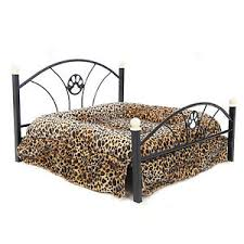 pet bed dog cushion upscale metal frame mattress included cat warm