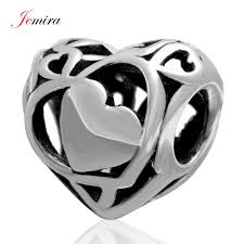 s day charms openwork heart charms s day gift 925 sterling silver