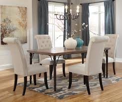 5 pc dining table set 5 piece rectangular dining room table set w wood top metal legs