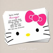 Hello Kitty Invitation Cards Hello Kitty Invitation 5 00 Via Etsy Mallory U0027s Hello Kitty