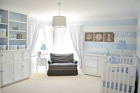 Powder Blue Curtains Decor Nautical Baby Boy Rooms Lovely Powder Blue And White Nautical