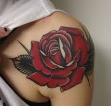 collection of 25 lovely tattoos on front shoulder