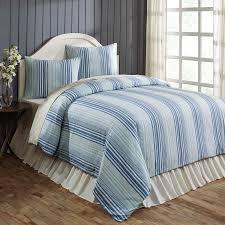 lake coast blue stripe king duvet cover set teton timberline