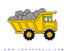 how to draw a dump truck art for kids hub clip art library