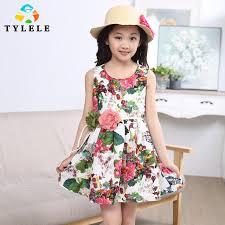 flower dresses printed vetement enfant floral elegant dresses