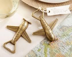 bottle opener favors let the adventure begin airplane bottle opener