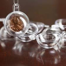 30mm clear acrylic fillable ornaments acrylic fillable