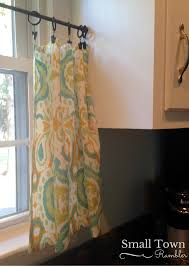 Window Curtain Tension Rod Kitchen Updates Curtain Cafe Curtains And Napkins