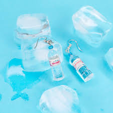 plastic bottle earrings evian water earrings white market usa